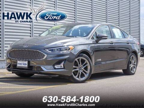 2019 Ford Fusion Hybrid for sale at Hawk Ford of St. Charles in Saint Charles IL