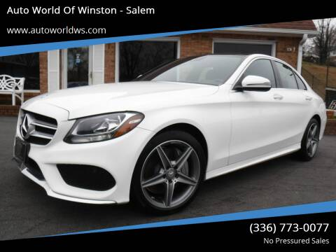 2017 Mercedes-Benz C-Class for sale at Auto World Of Winston - Salem in Winston Salem NC