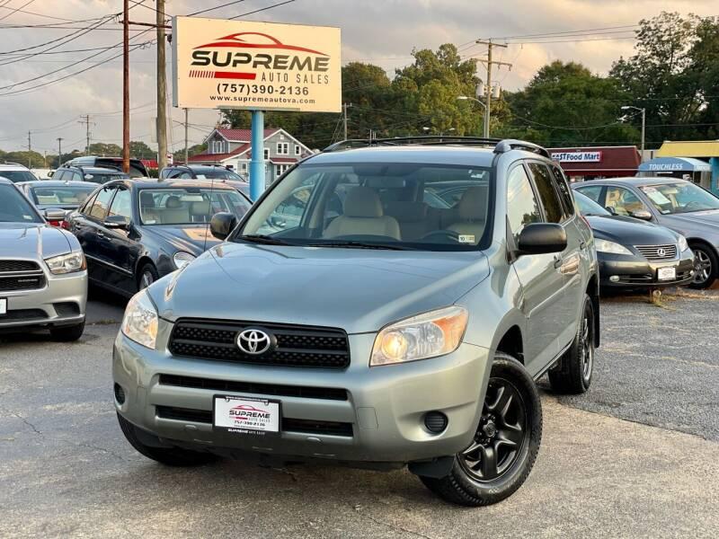 2008 Toyota RAV4 for sale at Supreme Auto Sales in Chesapeake VA