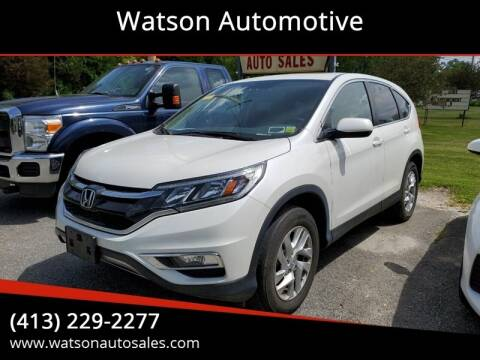 2016 Honda CR-V for sale at Watson Automotive in Sheffield MA