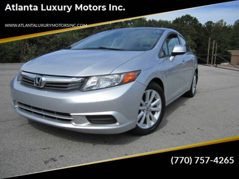 2012 Honda Civic for sale at Atlanta Luxury Motors Inc. in Buford GA