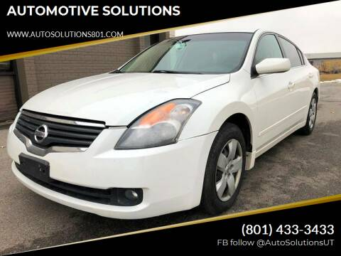 2008 Nissan Altima for sale at AUTOMOTIVE SOLUTIONS in Salt Lake City UT