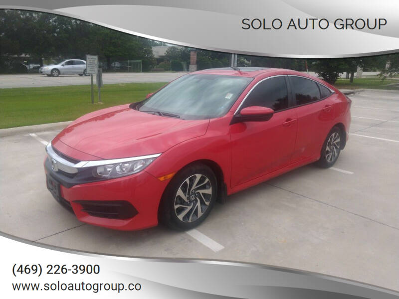 2018 Honda Civic for sale at Solo Auto Group in Mckinney TX