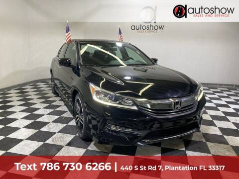 2016 Honda Accord for sale at AUTOSHOW SALES & SERVICE in Plantation FL