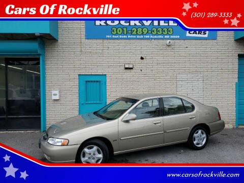 2001 Nissan Altima for sale at Cars Of Rockville in Rockville MD