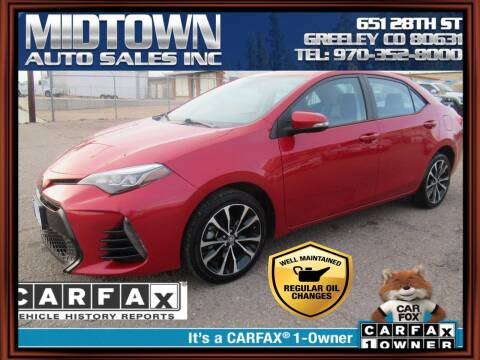 2018 Toyota Corolla for sale at MIDTOWN AUTO SALES INC in Greeley CO