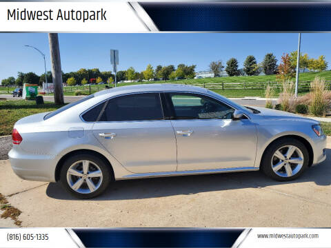 2013 Volkswagen Passat for sale at Midwest Autopark in Kansas City MO