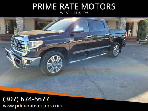 2019 Toyota Tundra for sale at PRIME RATE MOTORS in Sheridan WY