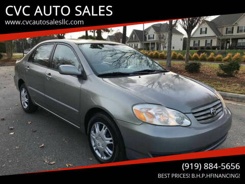 2004 Toyota Corolla for sale at CVC AUTO SALES in Durham NC