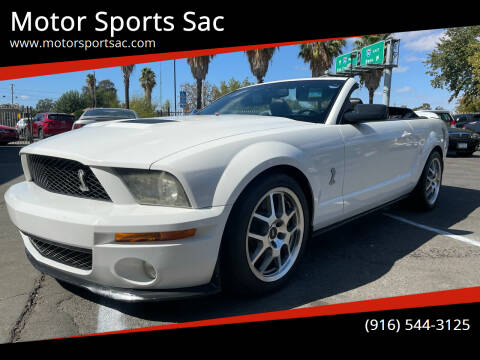 2008 Ford Shelby GT500 for sale at Motor Sports Sac in Sacramento CA
