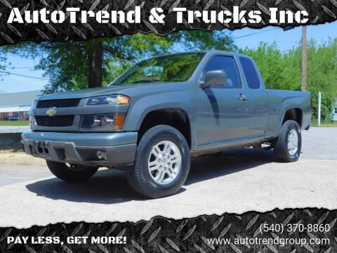 2012 Chevrolet Colorado for sale at AutoTrend & Trucks Inc in Fredericksburg VA