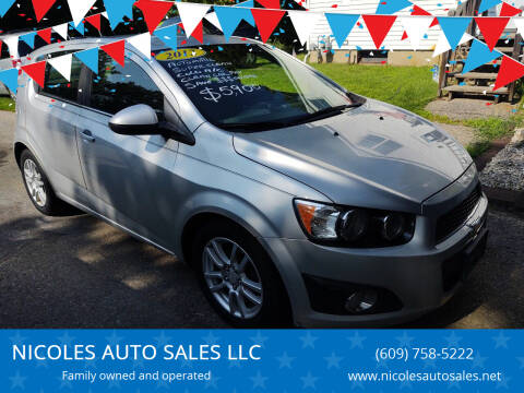 2012 Chevrolet Sonic for sale at NICOLES AUTO SALES LLC in Cream Ridge NJ