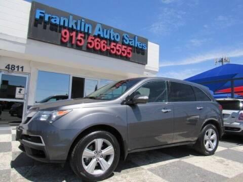 2010 Acura MDX for sale at Franklin Auto Sales in El Paso TX