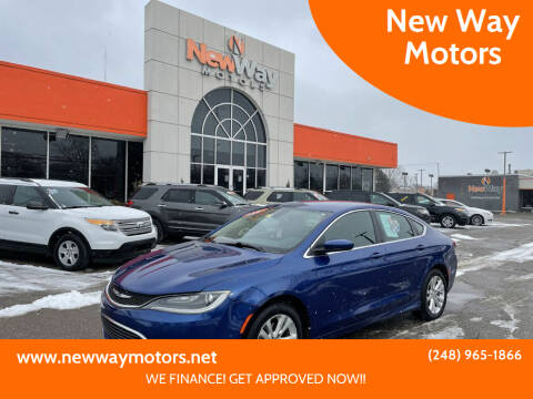 2015 Chrysler 200 for sale at New Way Motors in Ferndale MI