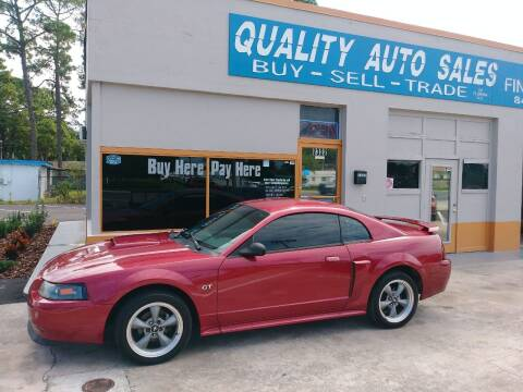 2002 Ford Mustang for sale at QUALITY AUTO SALES OF FLORIDA in New Port Richey FL