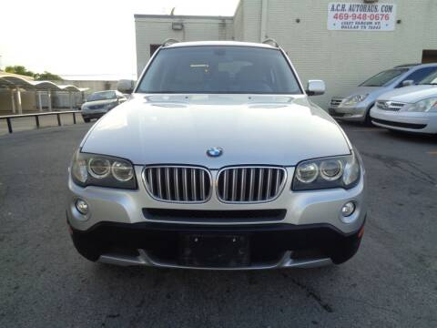2008 BMW X3 for sale at ACH AutoHaus in Dallas TX