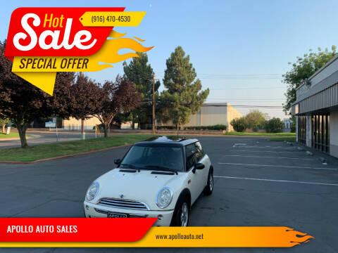 2006 MINI Cooper for sale at APOLLO AUTO SALES in Sacramento CA