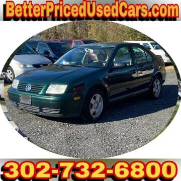 2002 Volkswagen Jetta for sale at Better Priced Used Cars in Frankford DE