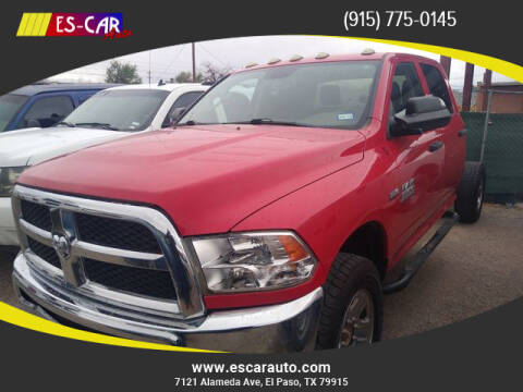 2017 RAM Ram Chassis 3500 for sale at Escar Auto in El Paso TX