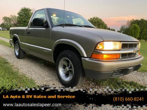 1999 Chevrolet S-10 for sale at LA Auto & RV Sales and Service in Lapeer MI
