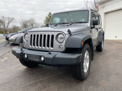 2017 Jeep Wrangler Unlimited for sale at SOUTH SHORE AUTO GALLERY, INC. in Abington MA