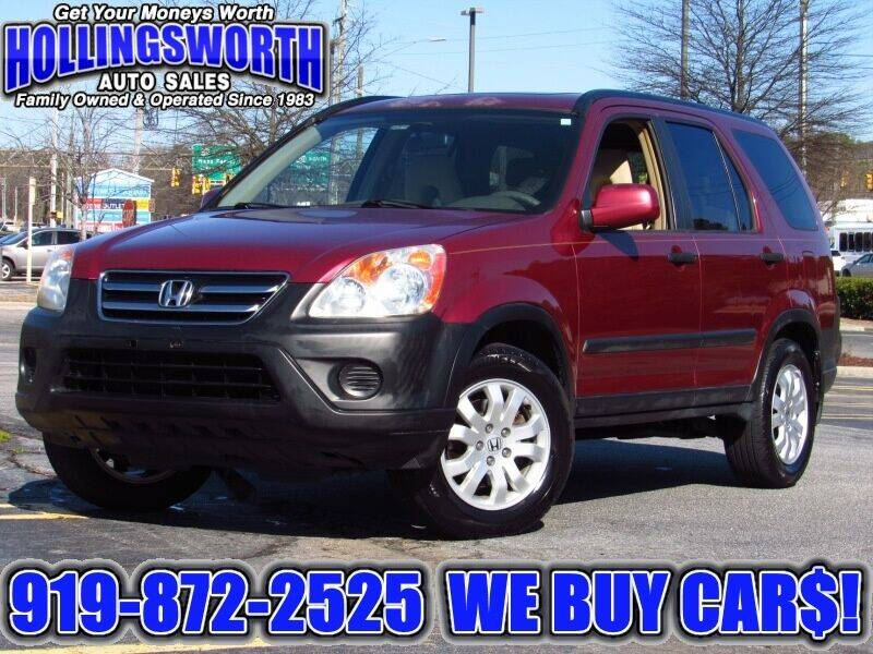 2006 Honda CR-V for sale at Hollingsworth Auto Sales in Raleigh NC