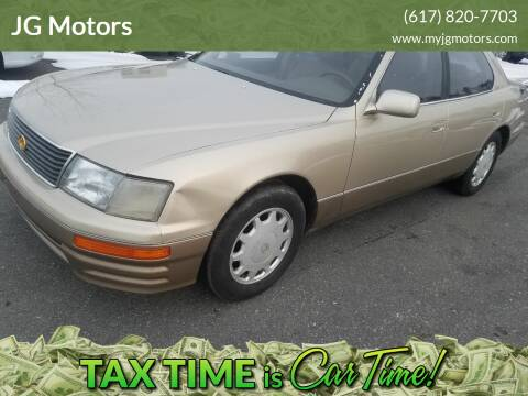 1995 Lexus LS 400 for sale at JG Motors in Worcester MA