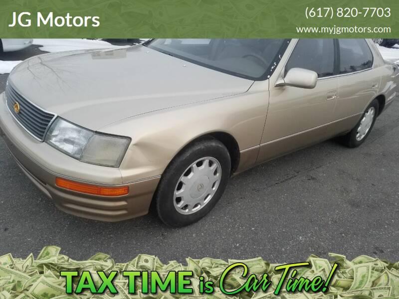 1995 Lexus LS 400 for sale at JG Motors in Worcester MA
