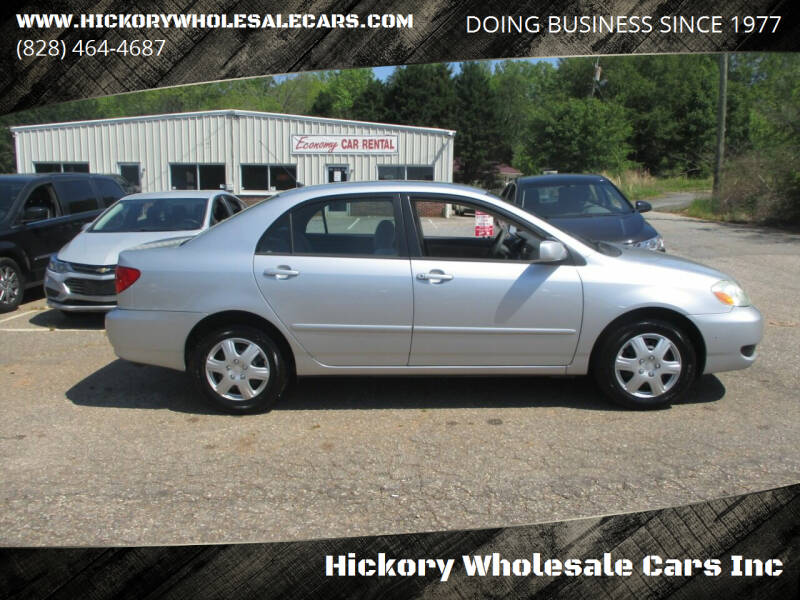 2007 Toyota Corolla for sale at Hickory Wholesale Cars Inc in Newton NC