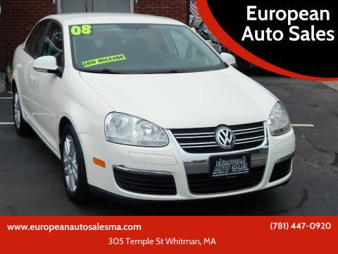2008 Volkswagen Jetta for sale at European Auto Sales in Whitman MA