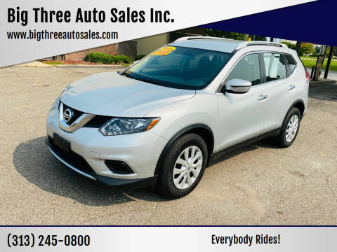 2016 Nissan Rogue for sale at Big Three Auto Sales Inc. in Detroit MI