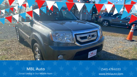 2010 Honda Pilot for sale at MBL Auto in Fredericksburg VA