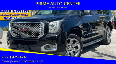 2015 GMC Yukon XL for sale at PRIME AUTO CENTER in Palm Springs FL