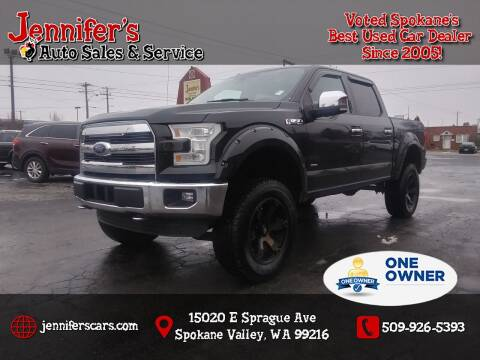 2015 Ford F-150 for sale at Jennifer's Auto Sales in Spokane Valley WA