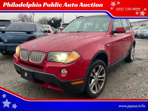 2008 BMW X3 for sale at Philadelphia Public Auto Auction in Philadelphia PA