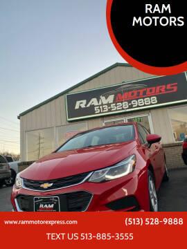 2018 Chevrolet Cruze for sale at RAM MOTORS in Cincinnati OH