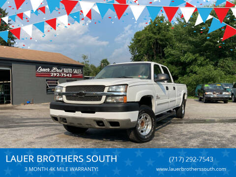 2003 Chevrolet Silverado 2500HD for sale at LAUER BROTHERS SOUTH in York PA
