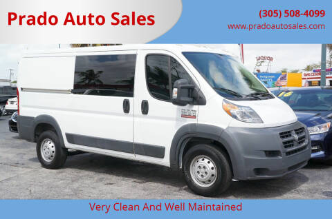 2015 RAM ProMaster Cargo for sale at Prado Auto Sales in Miami FL