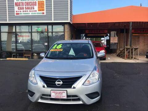 2016 Nissan Versa for sale at North Chicago Car Sales Inc in Waukegan IL