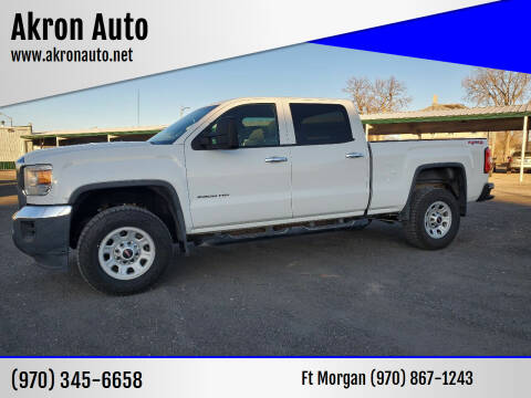 2015 GMC Sierra 2500HD for sale at Akron Auto - Fort Morgan in Fort Morgan CO