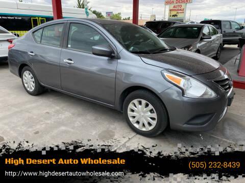 2018 Nissan Versa for sale at High Desert Auto Wholesale in Albuquerque NM