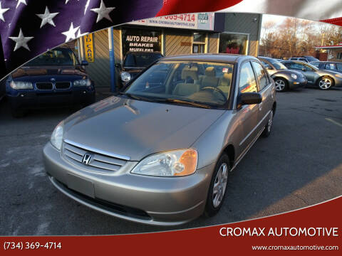 2003 Honda Civic for sale at Cromax Automotive in Ann Arbor MI