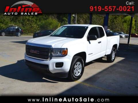 2016 GMC Canyon for sale at Inline Auto Sales in Fuquay Varina NC