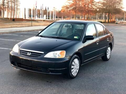 2002 Honda Civic for sale at Supreme Auto Sales in Chesapeake VA