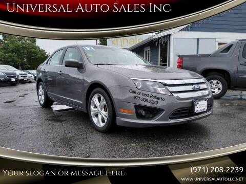 2012 Ford Fusion for sale at Universal Auto Sales Inc in Salem OR