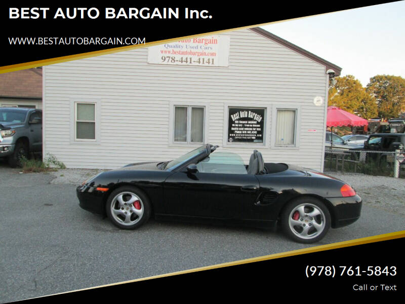 2000 Porsche Boxster for sale at BEST AUTO BARGAIN inc. in Lowell MA