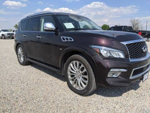 2016 Infiniti QX80 for sale at BERKENKOTTER MOTORS in Brighton CO