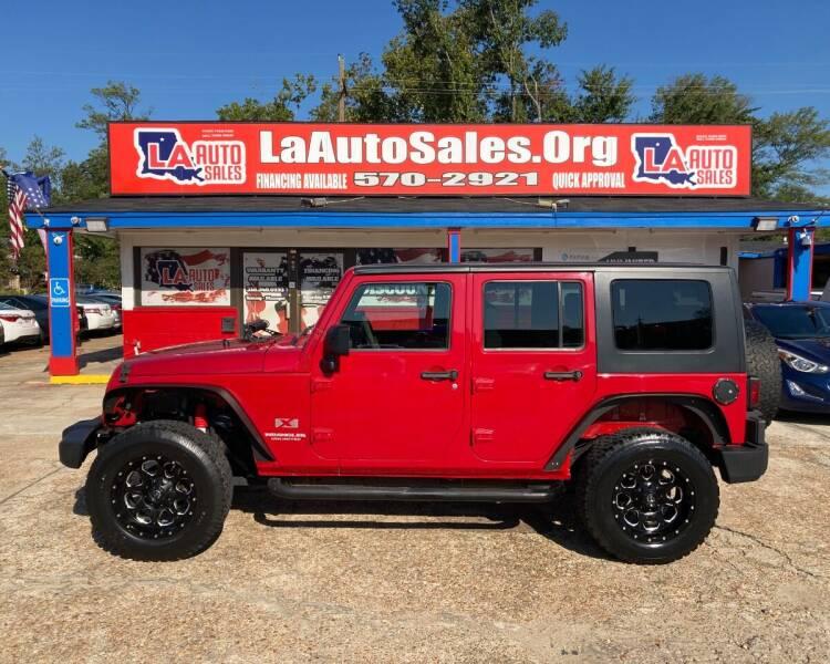 2009 Jeep Wrangler Unlimited for sale at LA Auto Sales in Monroe LA