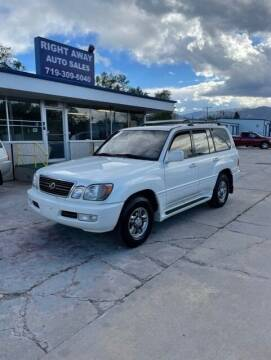 2002 Lexus LX 470 for sale at Right Away Auto Sales in Colorado Springs CO