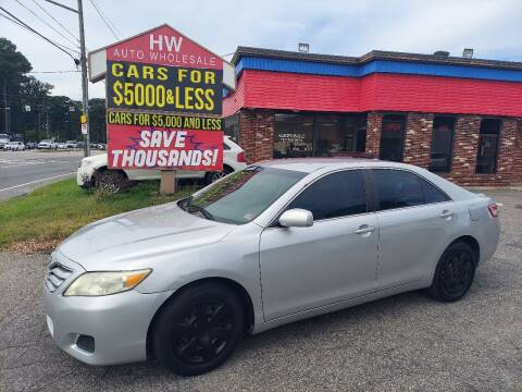 2011 Toyota Camry for sale at HW Auto Wholesale in Norfolk VA